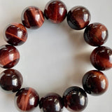 16mm Red Tiger's Eye Bracelet