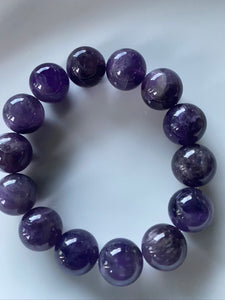 14mm Amethyst Gemstone Bracelet