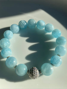 12mm Aquamarine Bracelet