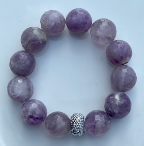 16mm Amethyst Gemstone Bracelet