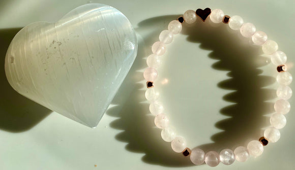 6mm Matte Rose Quartz Bracelet