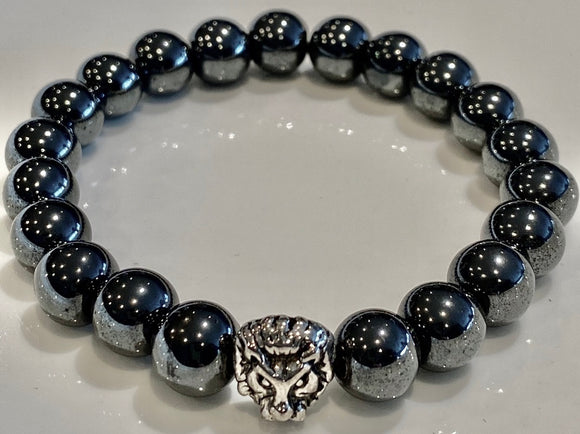 10mm Magnetic Hematite Gemstone Bracelet