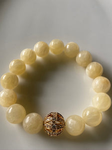12mm Calcite Gemstone Bracelet