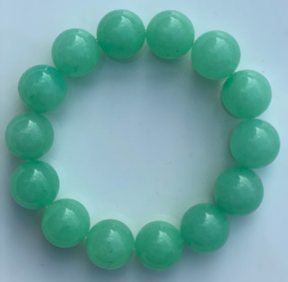 14mm Jade Gemstone Bracelet