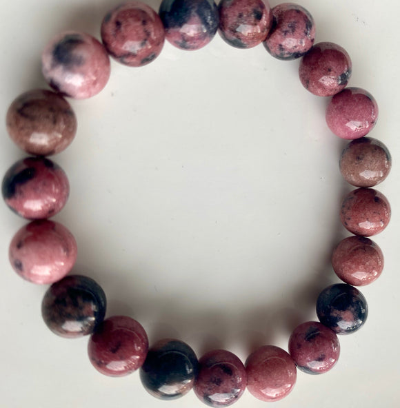10mm Rhodonite Bracelet