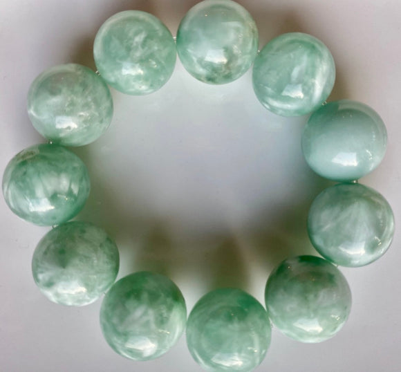 20mm Green Moonstone Bracelet
