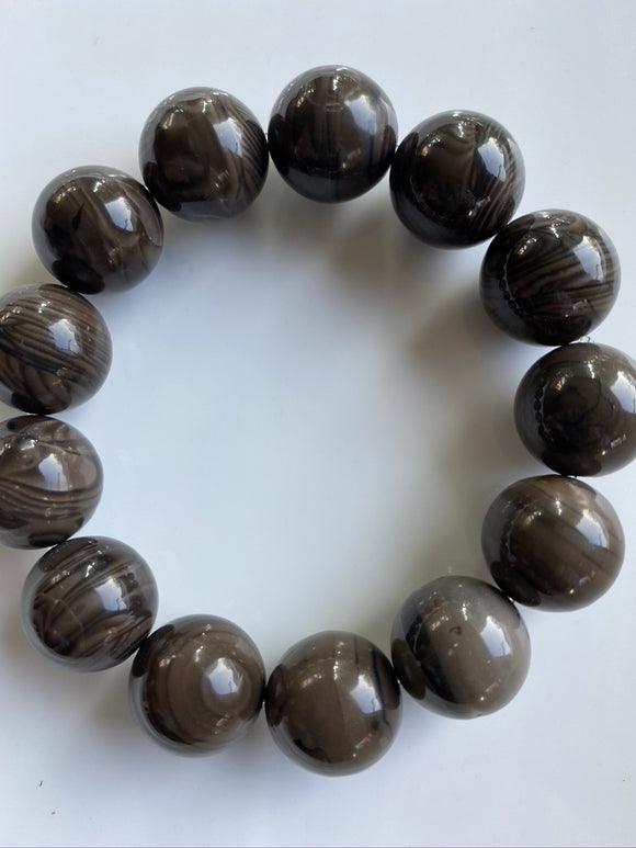 16mm Agate Gemstone Bracelet