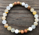 Citrine, Sandalwood & White Howlite
