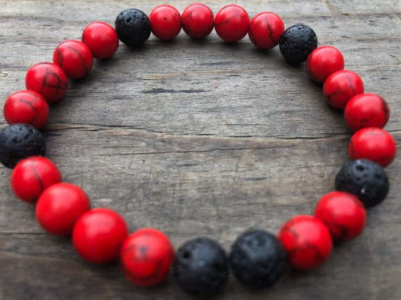 Lava & Red Sea Bamboo Bracelet