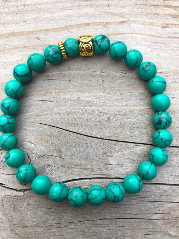 Green Sea Bamboo Gemstone Bracelet