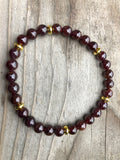 Mini Garnet Gemstone Bracelet