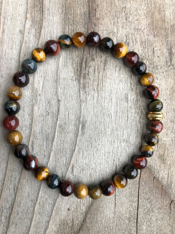 Mini Assorted Tiger's Eye Gemstone Bracelet