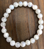 Natural Blue Flash Moonstone Gemstone Bracelet