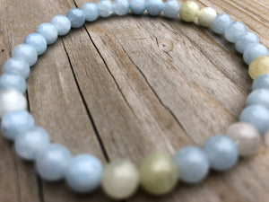 Mini Aquamarine Gemstone Bracelet
