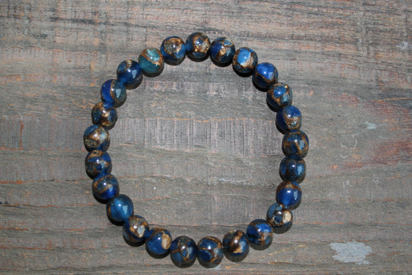 Dark Blue Suspended Copper Agate Bracelet
