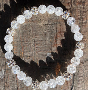 Crackled Quartz Gemstone Bracelets