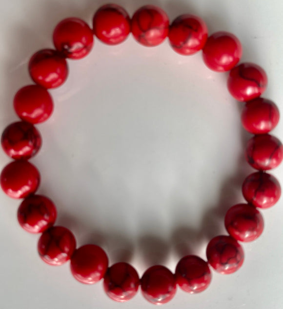 Red Howlite (Dyed) Overstock