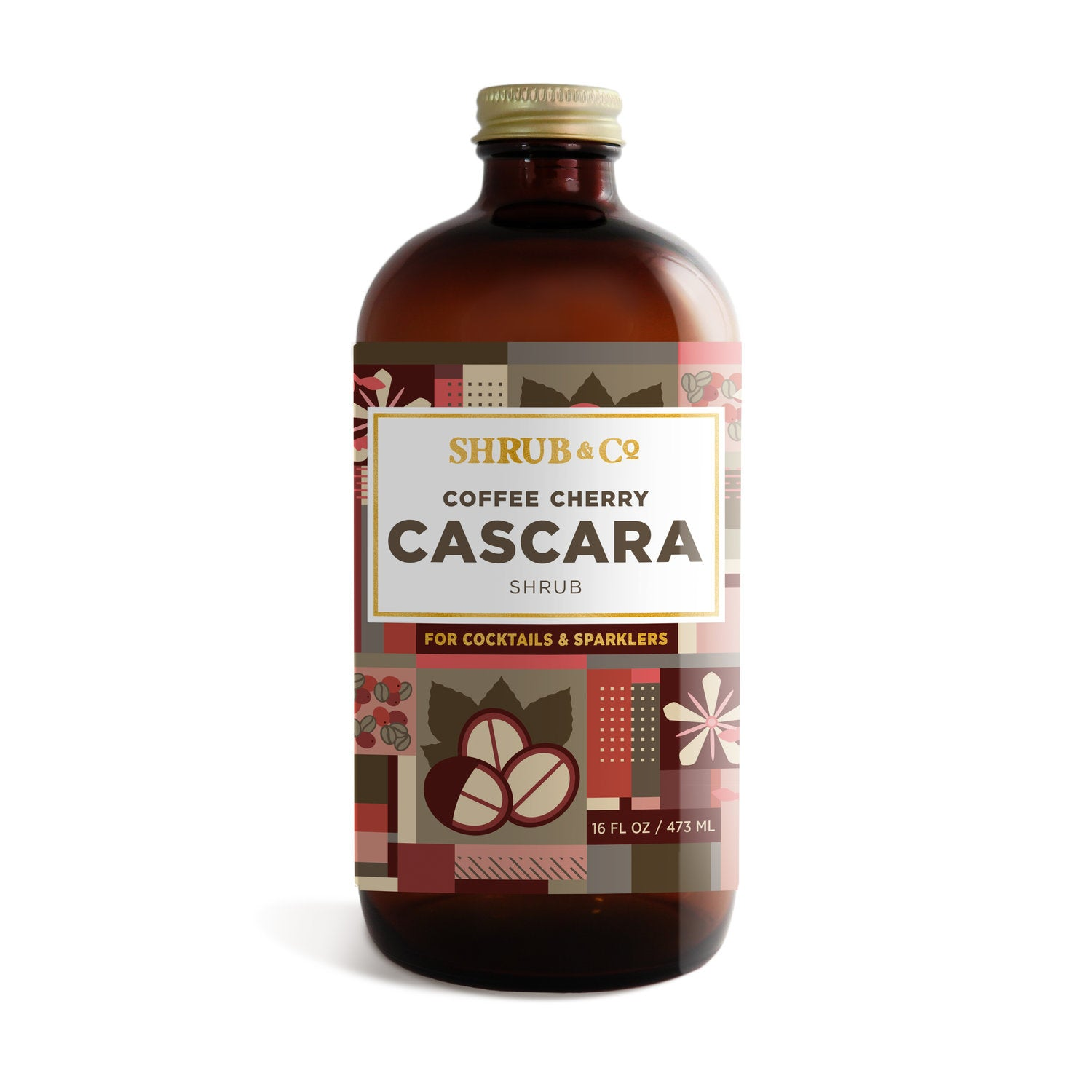 Shrub & Co Coffee Cherry Cascara Shrub 16oz