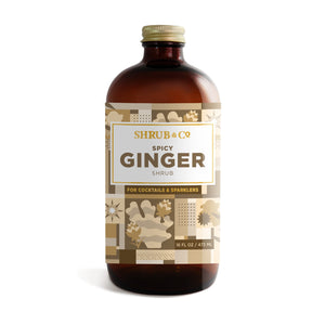 Shrub & Co Spicy Ginger Syrup 16oz