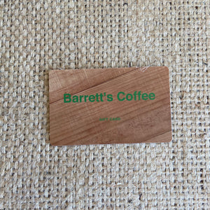Barrett's Coffee Gift Card