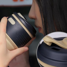 Load image into Gallery viewer, Foldable Silicone Travel Coffee Cups
