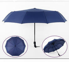 Load image into Gallery viewer, Three Folding Automatic Umbrella