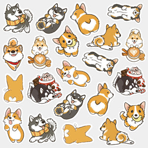 Cute Dog Decoration Washi Stickers