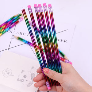 Student Rainbow Wooden Pencil