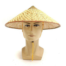 Load image into Gallery viewer, Coolie Straw Bamboo Cone Sun Hat