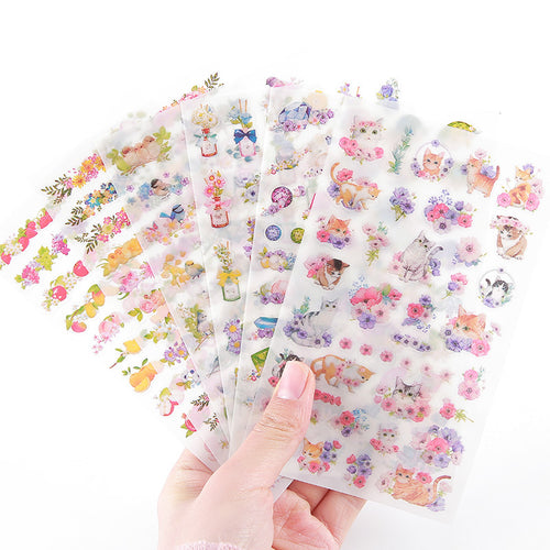Kawaii PVC Flower Stickers