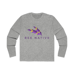 Men's Long Sleeve Crew Tee - Bee Native