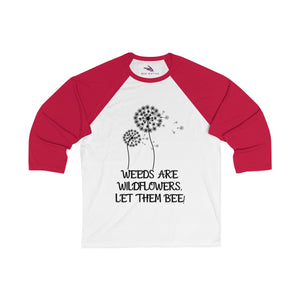 Women's 3/4 Sleeve Baseball Tee - Bee Native