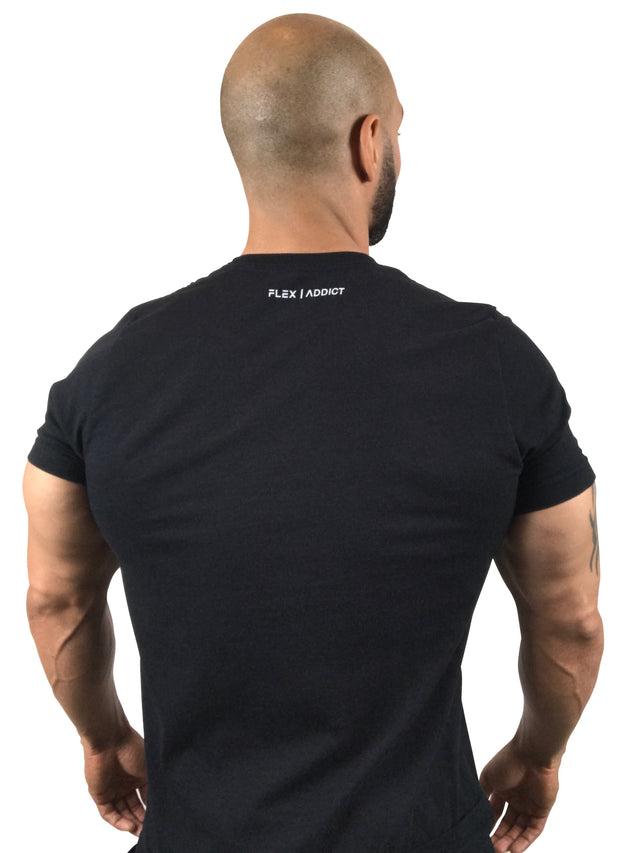 My Gym Dues: Fitted Black or Black Heather T-Shirt