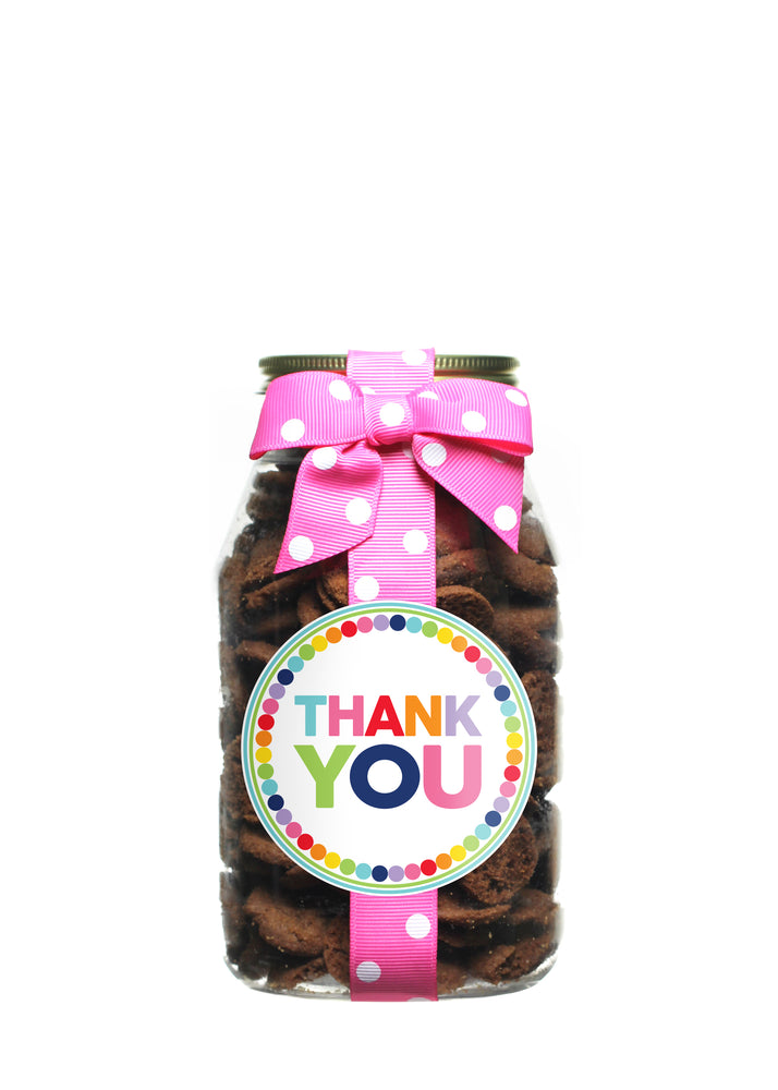 Brownie Crisp - Rainbow Dot Thank You