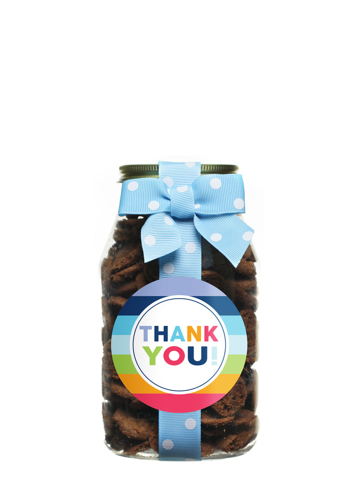 Brownie Crisp - Rainbow Stripe Thank You