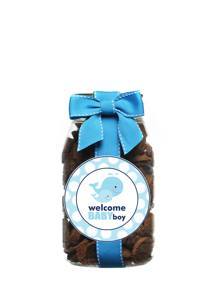 Brownie Crisp - Welcome Baby Boy Whale