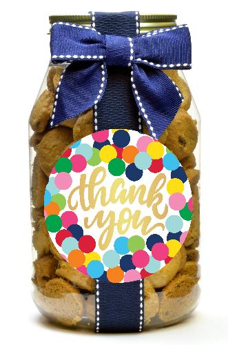 Chocolate Chip - Colorful Dot Thank You