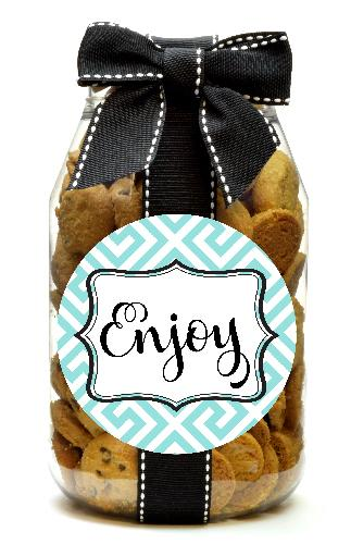 Chocolate Chip - Enjoy Pattern Stripe