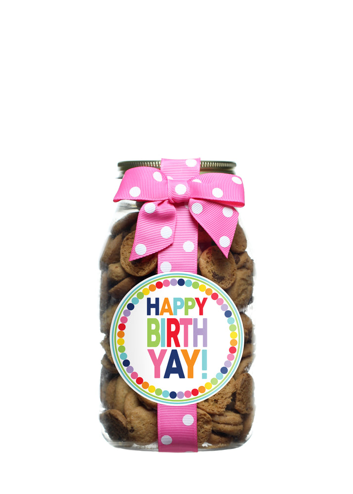 Chocolate Chip - Rainbow Dot Happy Birthday