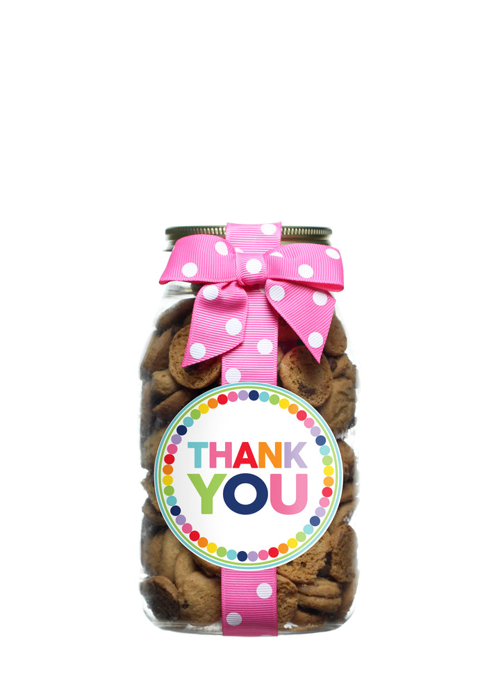 Chocolate Chip - Rainbow Dot Thank You