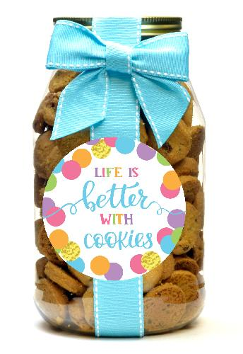 Chocolate Chip - Script Letter Life's Better