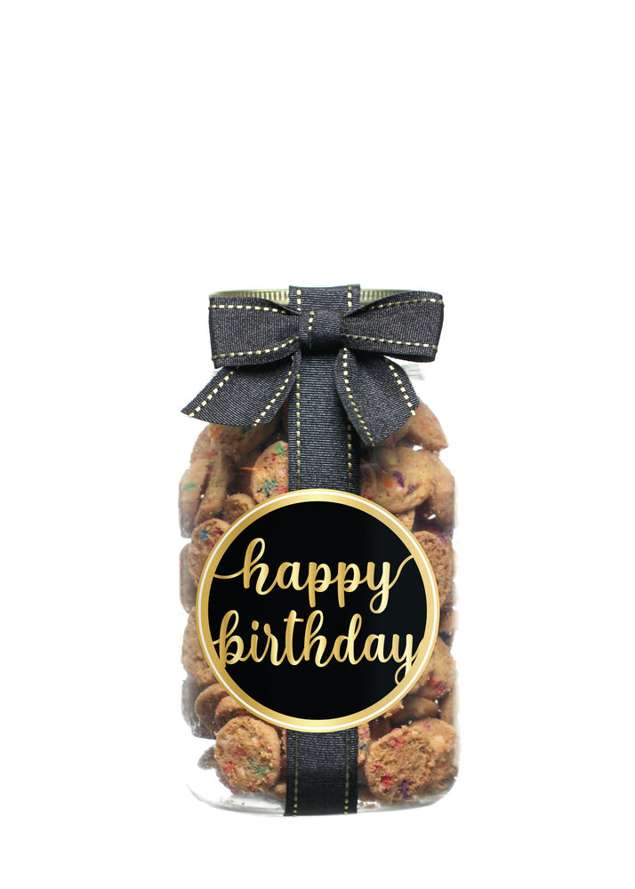 Confetti Cupcake - Black Gold Happy Birthday