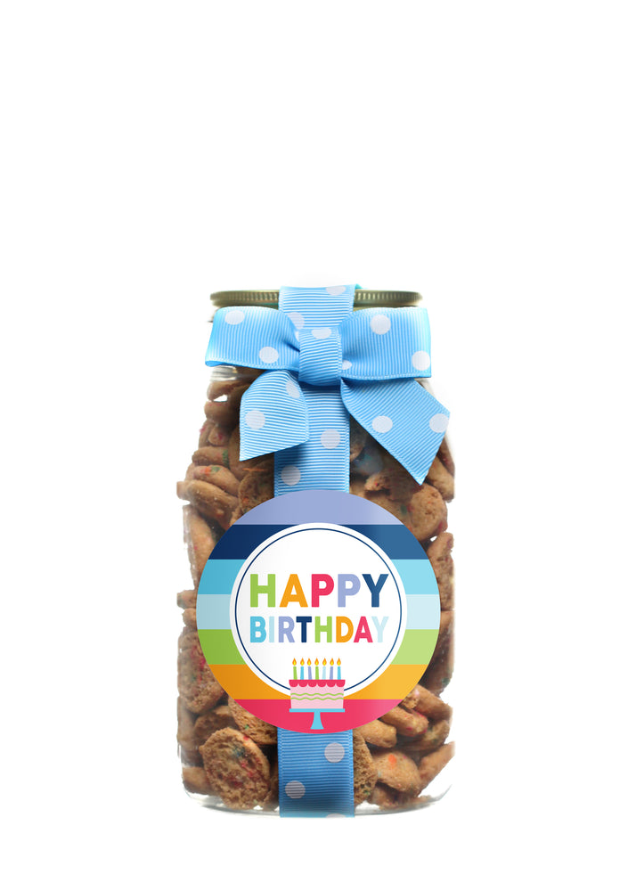 Confetti Cupcake - Rainbow Stripe Happy Birthday