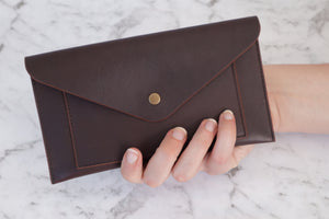 Envelope Clutch - Coffee