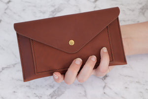 Envelope Clutch - Golden Brown