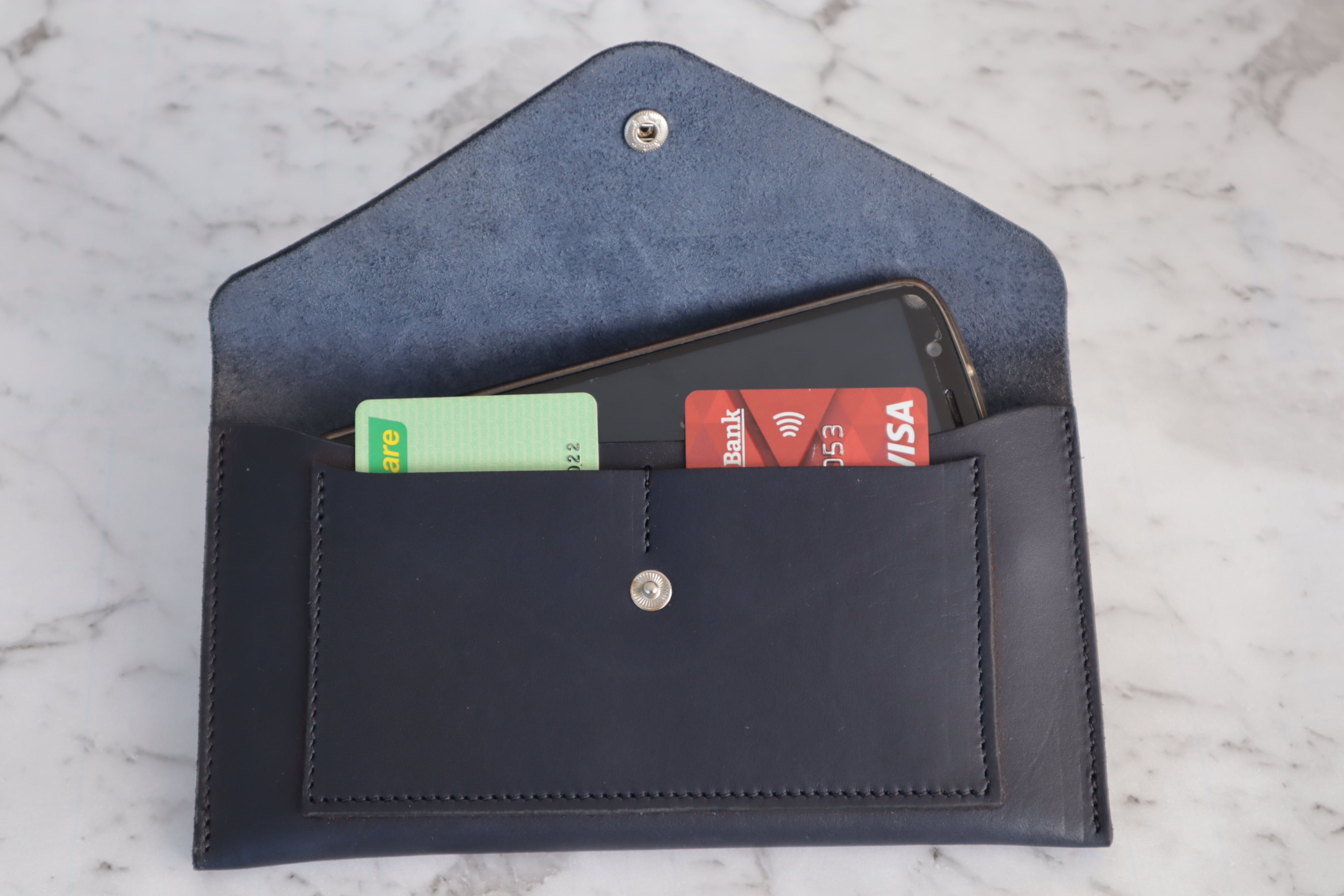 Envelope Clutch - Forest Green