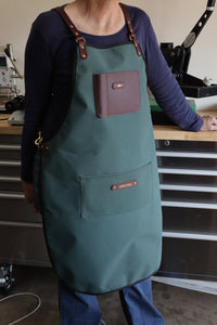 Apron - Brunswick Green and Dark Brown