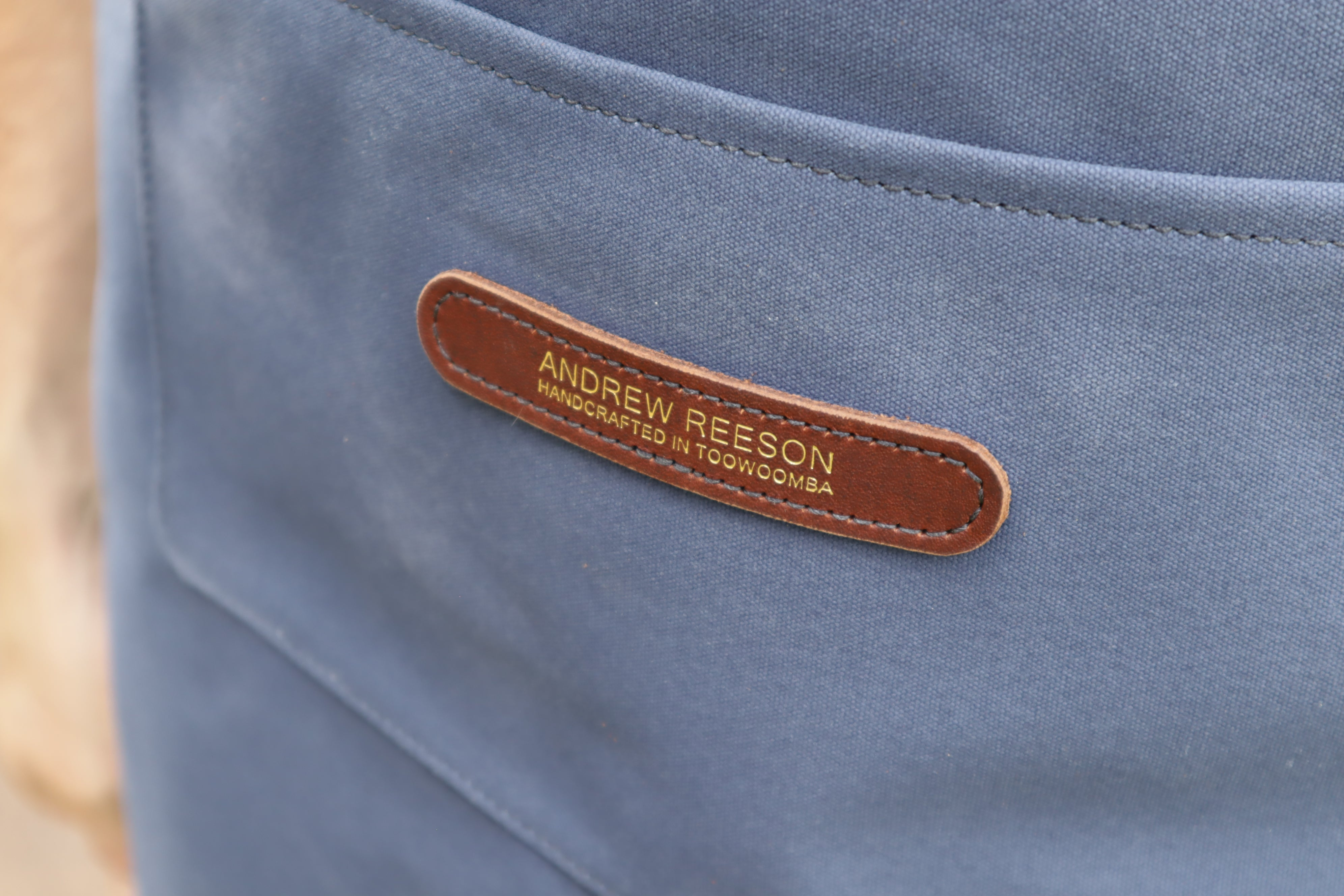 Apron - Navy and Golden Brown