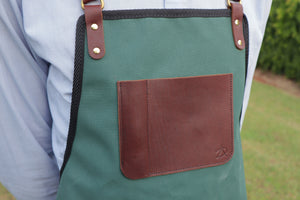 Apron - Brunswick Green and Golden Brown