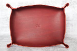Valet Tray - Bovine Leather - Cherry